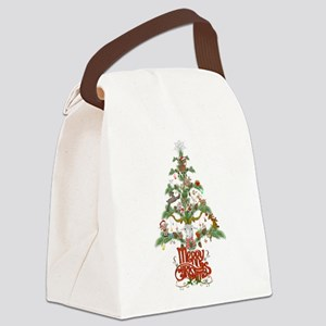 GOAT LOVERS CHRISTMAS TREE Canvas Lunch Bag