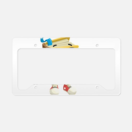 Cute Smart Cartoon Book Chara License Plate Holder