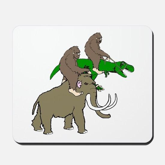 Bigfoot Race Mousepad