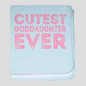 Cutest Goddaughter baby blanket
