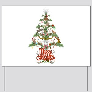 GOAT LOVERS CHRISTMAS TREE Yard Sign