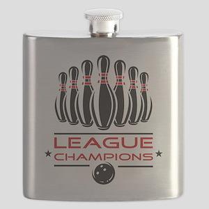 Bowling League Champions Flask