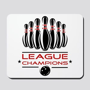 Bowling League Champions Mousepad