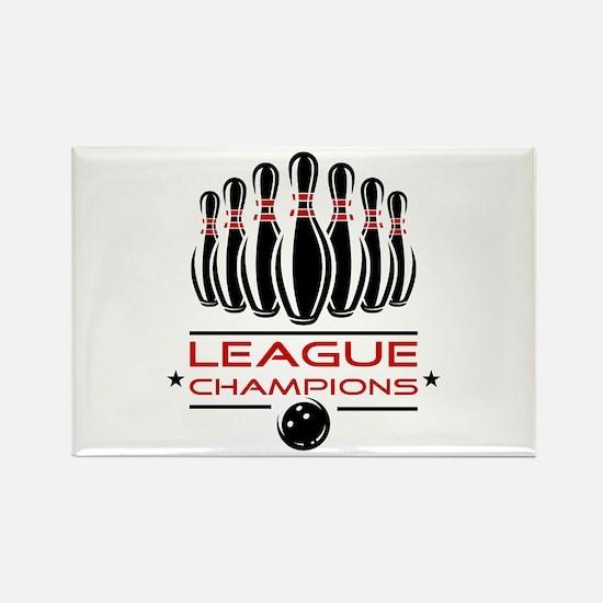 Bowling League Champions Rectangle Magnet