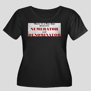 Numerator and Denominator Plus Size T-Shirt