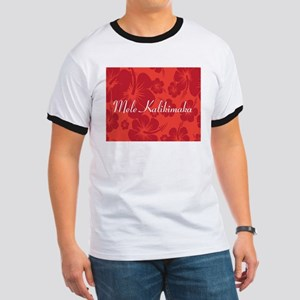 Mele Kalikimaka Merry Christmas Hibiscus T-Shirt