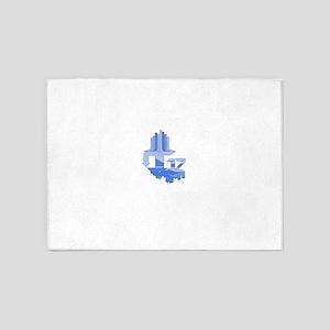 Light Blue Omni 5'x7'Area Rug