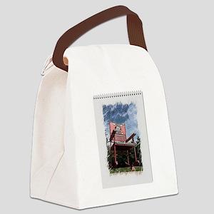 Red Rocker Canvas Lunch Bag