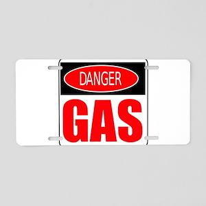 Danger Gas Aluminum License Plate