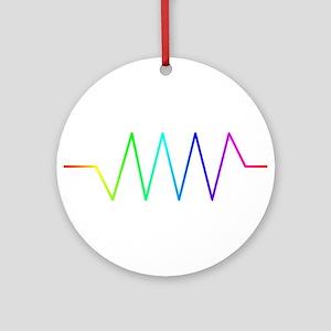 Rainbow Resistance Round Ornament