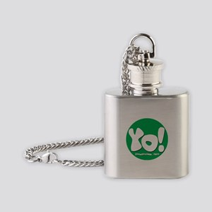 YO! Green Flask Necklace