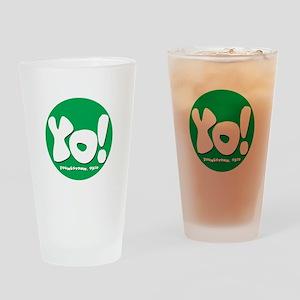 YO! Green Drinking Glass