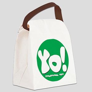 YO! Green Canvas Lunch Bag