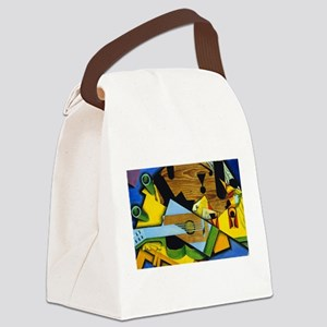 Still Life with a Guitar by Juan Canvas Lunch Bag