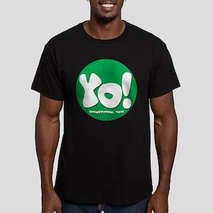 YO! Green Men's Fitted T-Shirt (dark)