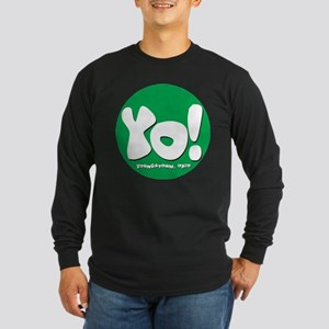 YO! Green Long Sleeve Dark T-Shirt
