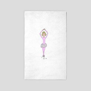 Nina Ballerina Cartoon Area Rug