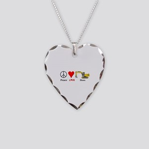 Peace Love Hoes Necklace Heart Charm