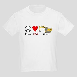 Peace Love Hoes Kids Light T-Shirt