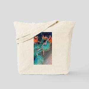 The Green Dancer by Edgar Degas Tote Bag
