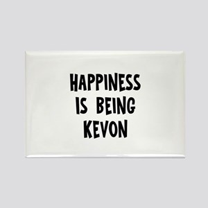 Happiness is being Kevon Rectangle Magnet