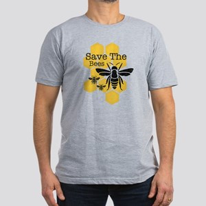 Honeycomb Save The Bees Men's Fitted T-Shirt (