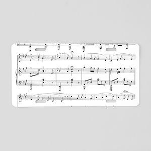 Sheet Music Aluminum License Plate