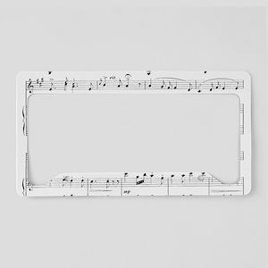 Sheet Music License Plate Holder