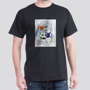 Basketball Snowman xmas T-Shirt