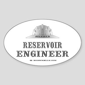 Reservoir Engineer Oval Sticker