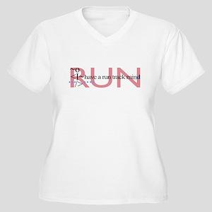 Run track mind runner Women's Plus Size V-Neck T-S