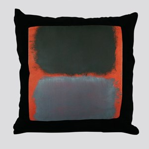 ROTHKO SHADES OF GREY AND ORANGE Throw Pillow