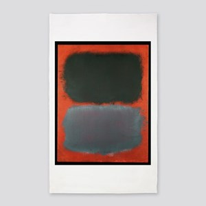 ROTHKO SHADES OF GREY AND ORANGE Area Rug