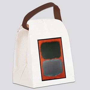 ROTHKO SHADES OF GREY AND ORANGE Canvas Lunch Bag