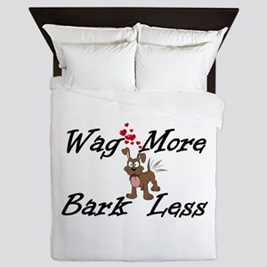 Wag More Bark Less Queen Duvet