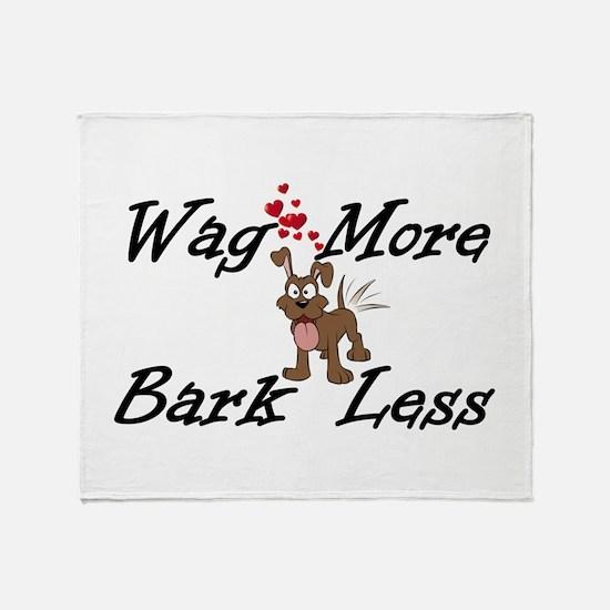 Wag More Bark Less Throw Blanket