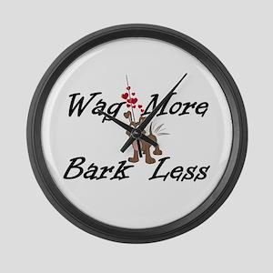 Wag More Bark Less Large Wall Clock