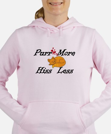 Purr More Hiss Less Women's Hooded Sweatshirt