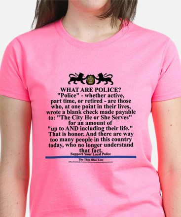 Support your local police Women's Dark T-Shirt