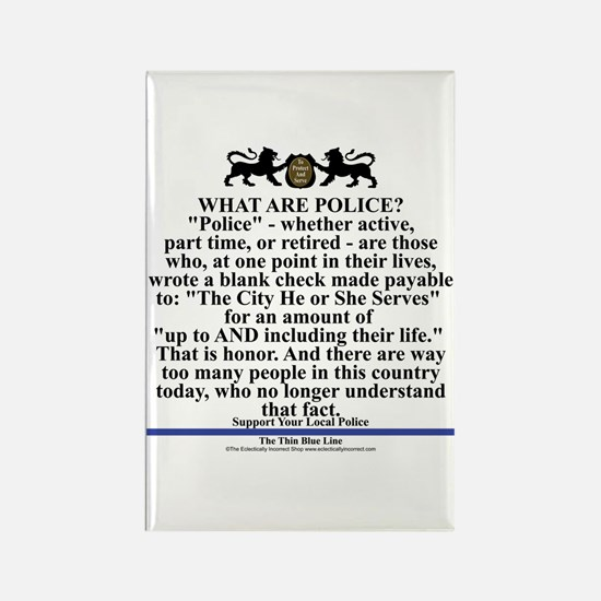 Support Your Local Police Rectangle Magnet Magnets