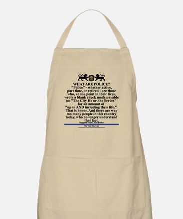 Support your local police Apron