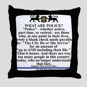 Support your local police Throw Pillow