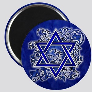 Denim Star of David Magnets