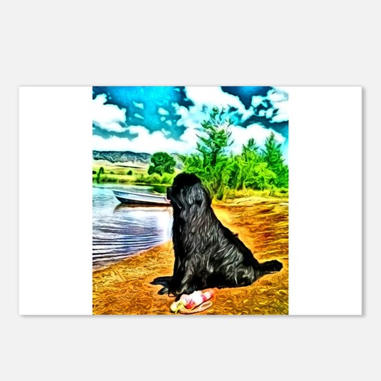 water Newf2 Postcards (Package of 8)