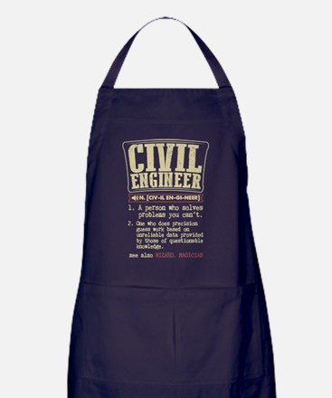 Civil Engineer Definition T Shirt Apron (dark)