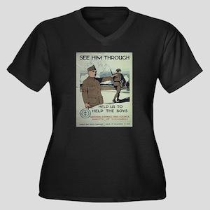 Vintage poster - See Him Through Plus Size T-Shirt