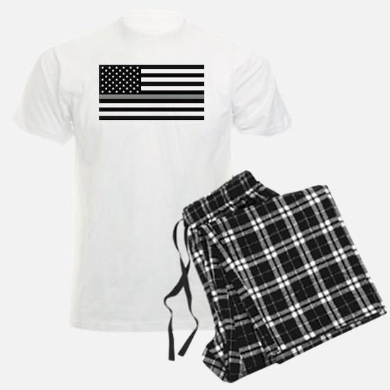 U.S. Flag: Black Flag & The Thin Grey Line Pajamas