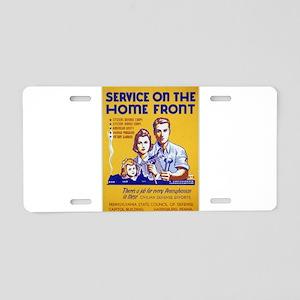 Vintage poster - Service on Aluminum License Plate
