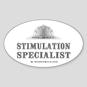 Stimulation Specialist Oval Sticker