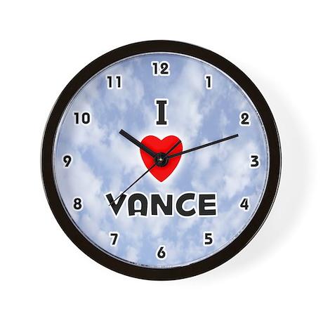 I Love Vance (Black) Valentine Wall Clock